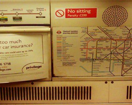 London Underground - No sitting