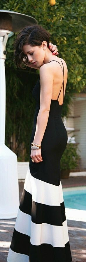 Gorgeous thin strap black maxi dress fashion... click on pic to see more