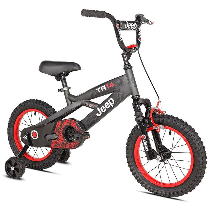 Boys Jeep 14-Inch TR14 Bike with Training Wheels, Black