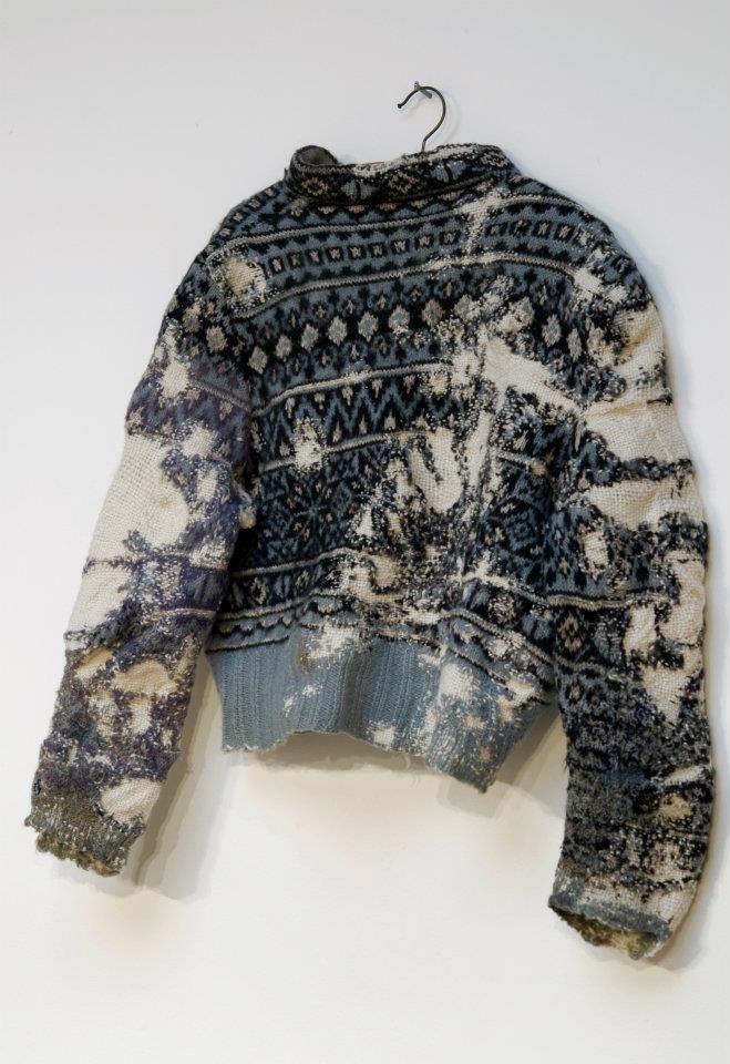 Darned sweater by Celia Pym