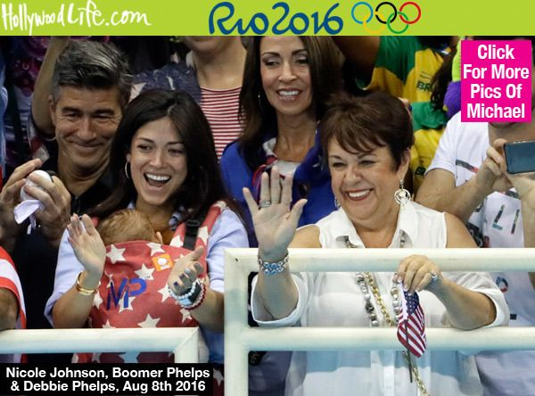 Nicole Johnson, Michael Phelps' fiance wears their son at the Rio Olympics #Tula #babywearing