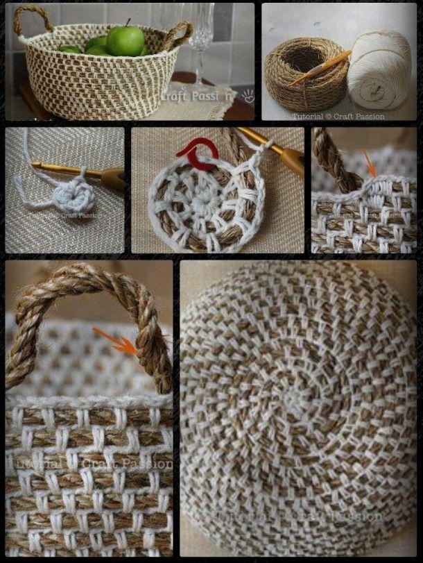 Haken en breien!   Een mandje kun je ook zelf maken/breien. Door Jeanet4