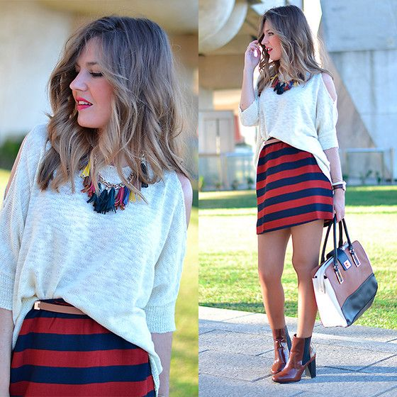 Fashion Pills Sweater, Amazon Buyvip Skirt, Stradivarius Booties, Primark Handbag