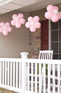 Ballons transform�s en fleurs d�coratives