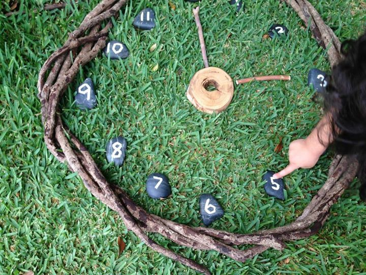 "A natural clock from Puzzles Family Day Care ("",)"
