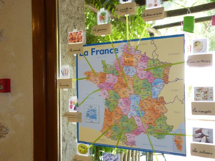 Plan de table  : Les bonbons de nos régions