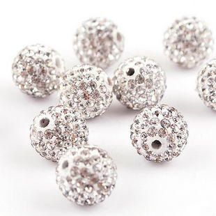 8mm Blue Zircon Top Quality Czech Crystal Rhinestones Pave Clay Round Disco Ball Spacer Beads For Jewelry 100pcs Jewelry & Accessories Beads Pack Wide Varieties