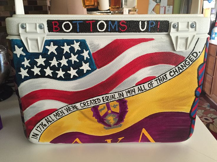 hand painted fraternity cooler