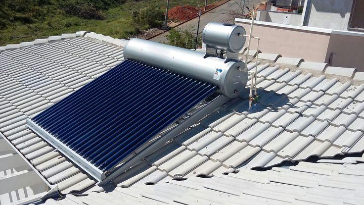 """Aquecedor  solar em tubos à vácuo;  - Reservatório térmico em aço 304 - com camada de revestimento em """"Poliuretano expandido"""" - responsável em preservar o calor da água;  Tubos de 180 x 57 mm. com camadas de ; """" COBRE, ZINCO E ALUMÍNIO """" - responsável na elevação da temperatura até 95 Graus.  - Não precisa elevar o nível da caixa d'água;  -Garantia de 03 anos;  - Classificação ( A ) - no INMETRO.  Contato: 31 -99531.1817 // 31 -98831.1817  Leonardo."""