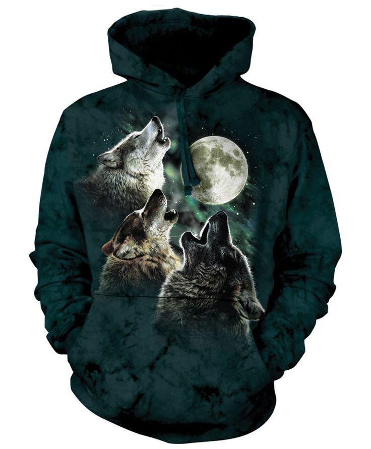 Wolf Hoodie | Three Wolf Moon