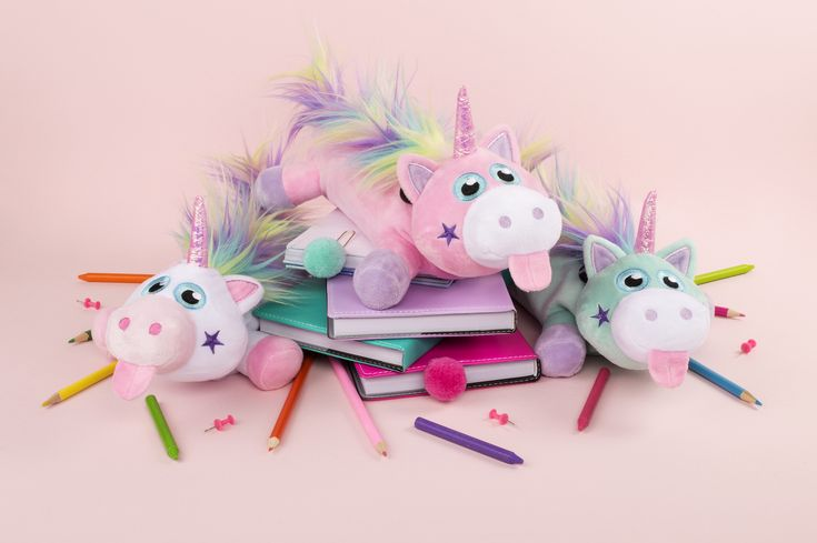 Unicorn pencil case for kids. Unique school accessory, girly stationery organiser. Perfect gift for girls.