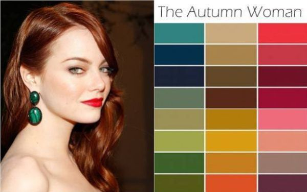 red hair in autumn color palette clothing   Which Season Are You?   Blogspace By Ariane