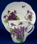Shelley Tall Dainty Violets Coffee Cup And Saucer