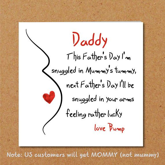 Father's Day Card for new Dad/ partner from bump / unborn #fathersday #card #bab...