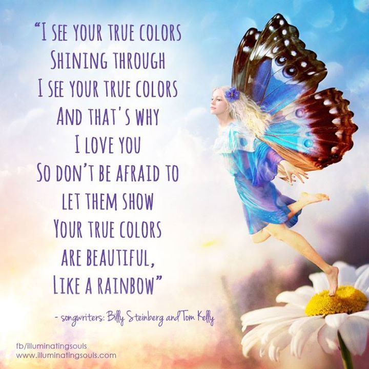 Image result for i love your true colours pic