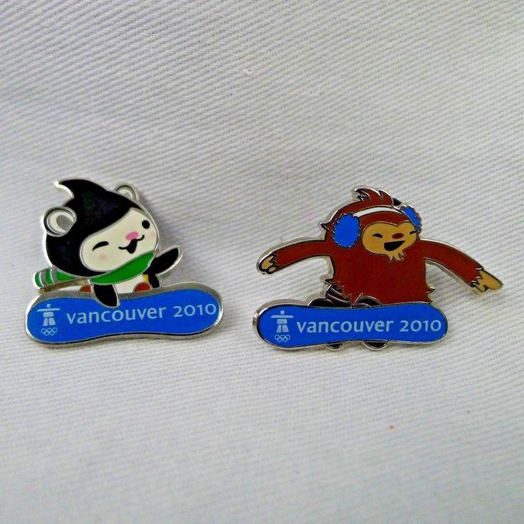 Vancouver 2010 Olympic Lapel Pins Quatchi And Miga ...