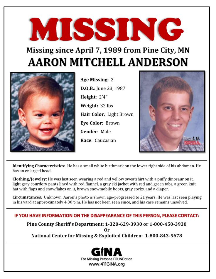 Find Missing Aaron Mitchell Anderson!
