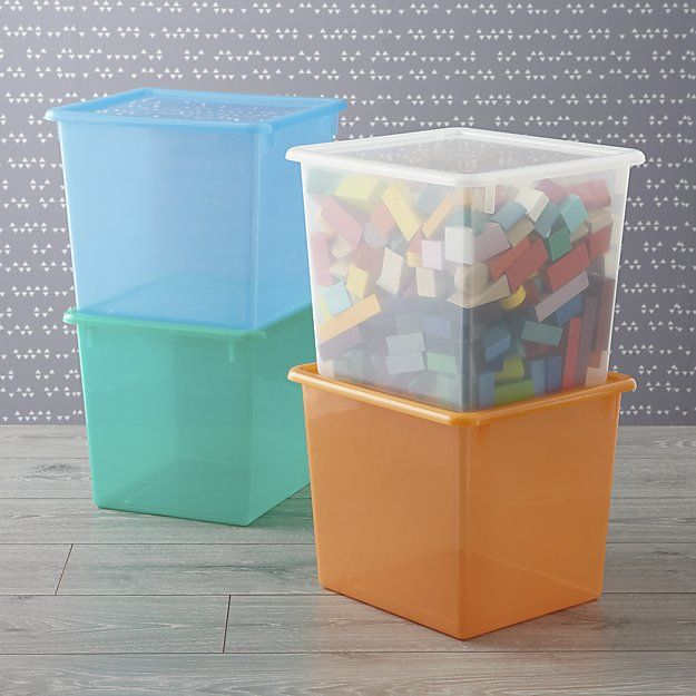 Large Plastic Storage Box | Crate and Barrel