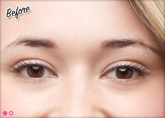 Wow, brow tinting! Click on the picture and watch for the after!