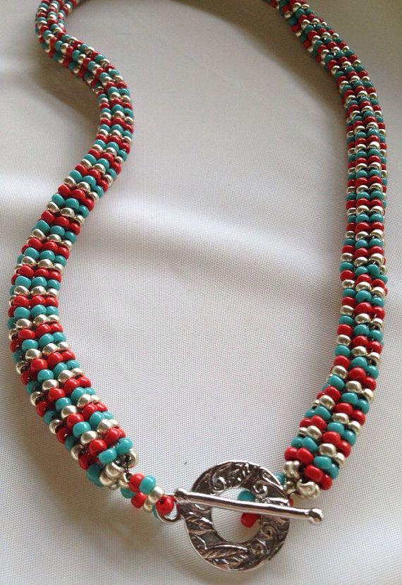 Tubular herringbone necklace on Etsy, $60.00