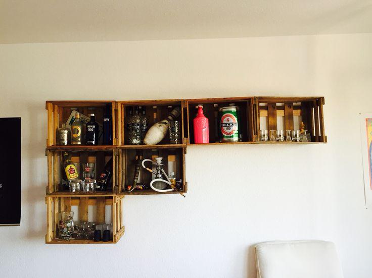 meer dan 1000 idee n over weinkisten regal op pinterest. Black Bedroom Furniture Sets. Home Design Ideas
