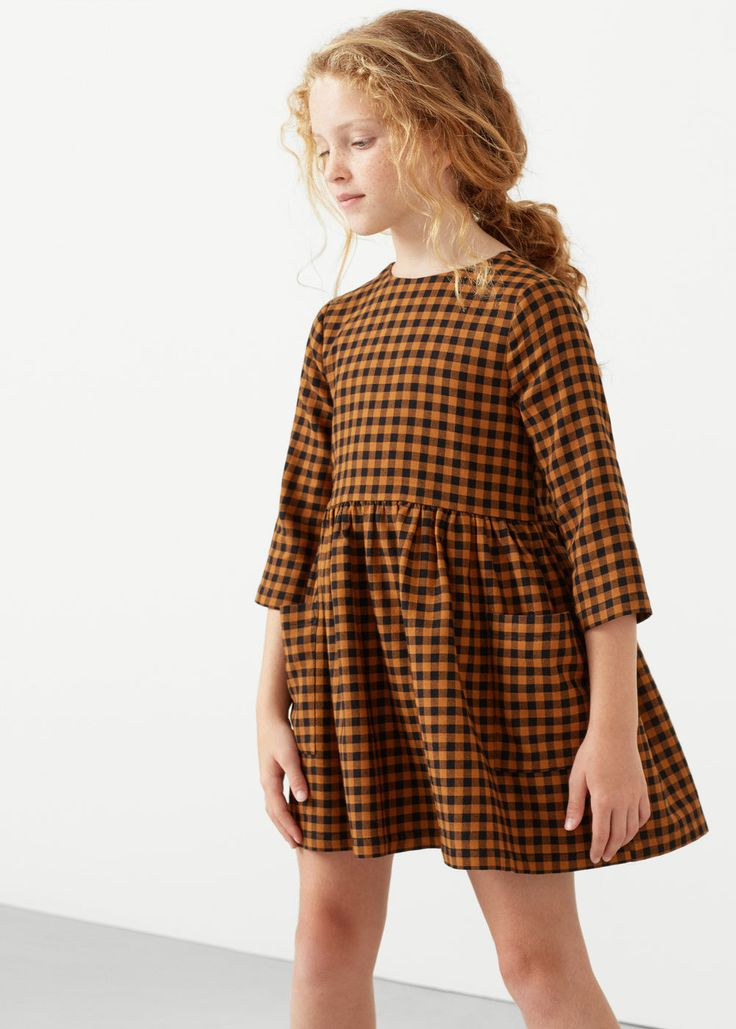 Checked flannel dress