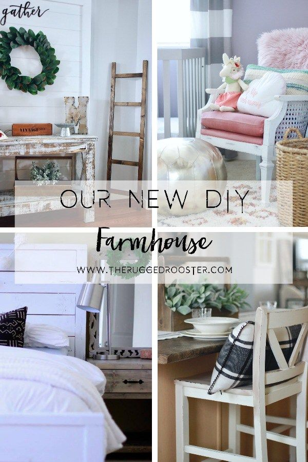 Our New DIY Farmhouse. Follow Our Progress as we make a beautiful DIY Farmhouse from Scratch! www.theruggedrooster.com