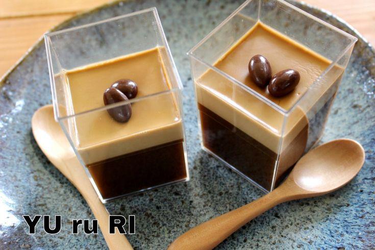 おすすめ!勝手に二層のコーヒームース&ゼリー|YU ru RI ~セミベジタリアンyuriのごはんとお菓子~勝手に2層になってくれるレシピ☆