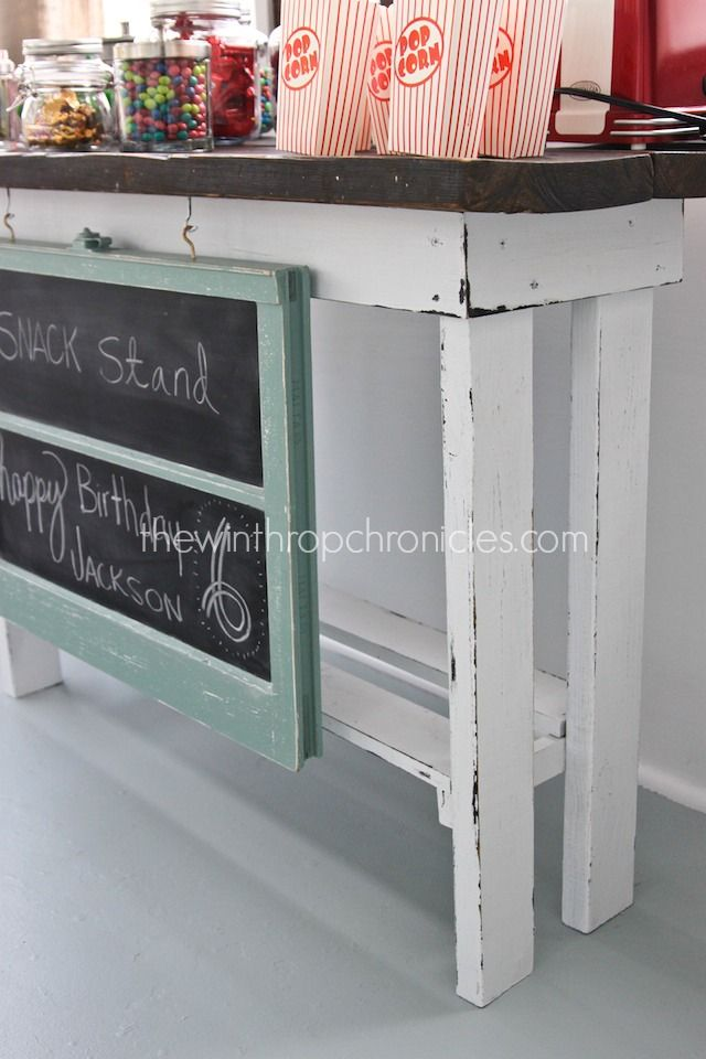 {DIY} SNACK STAND