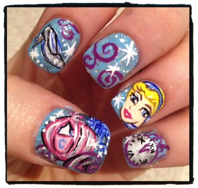 Cinderella Nails: 17 Best Images About Disney Nail Art On Pinterest