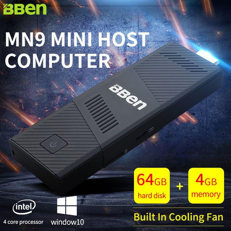 Bben Mini PC Windows 10 CPU Z8350 Quad-core WiFi TV Stick 4GB/64GB Bluetooth4.0 HDMI Intel Compute Stick TV Box Gaming PC Stick