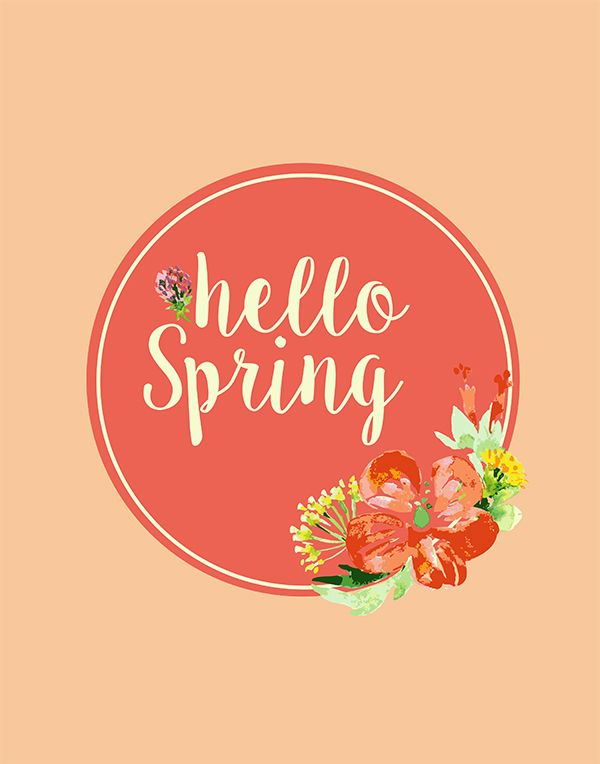 This beautiful free hello Spring printable will be a pretty addition to decorate your mantle, buffet or sofa table.