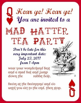 58 best mad hatter tea party ideas - moo's 9th images on pinterest, Party invitations