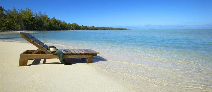 Stranden ved Pacific Resort Aitutaki, Cook Islands