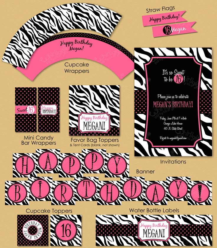 free sweet 16 printable invitations party banners sweet. Black Bedroom Furniture Sets. Home Design Ideas