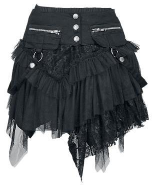 """KuroNeko Short skirt, Women """"Cat Skirt"""" black • EMP"""