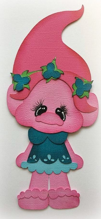 TROLL PRINCESS POPPY PREMADE PAPER PIECING DIE CUT BY MY TEAR BEARS KIRA #Handmade
