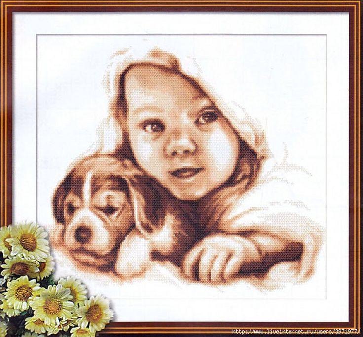 Baby and Puppy - 1/6 PUNTADITAS (pág. 212) | Aprender manualidades es facilisimo.com