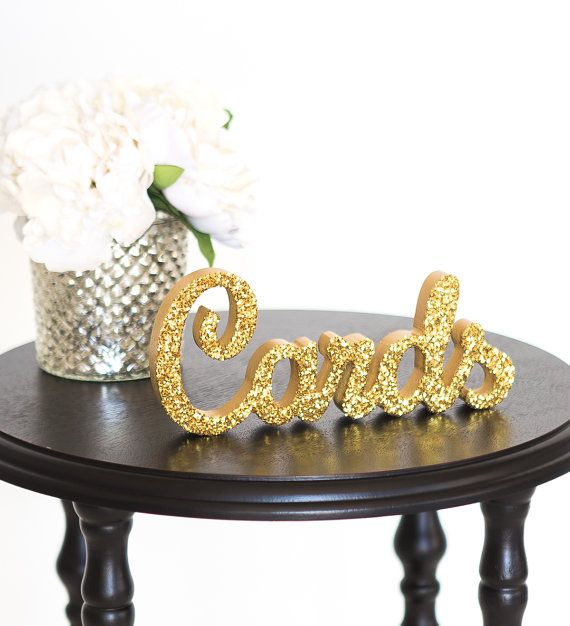 Cards Sign for Wedding Gift Table  Freestanding by ZCreateDesign