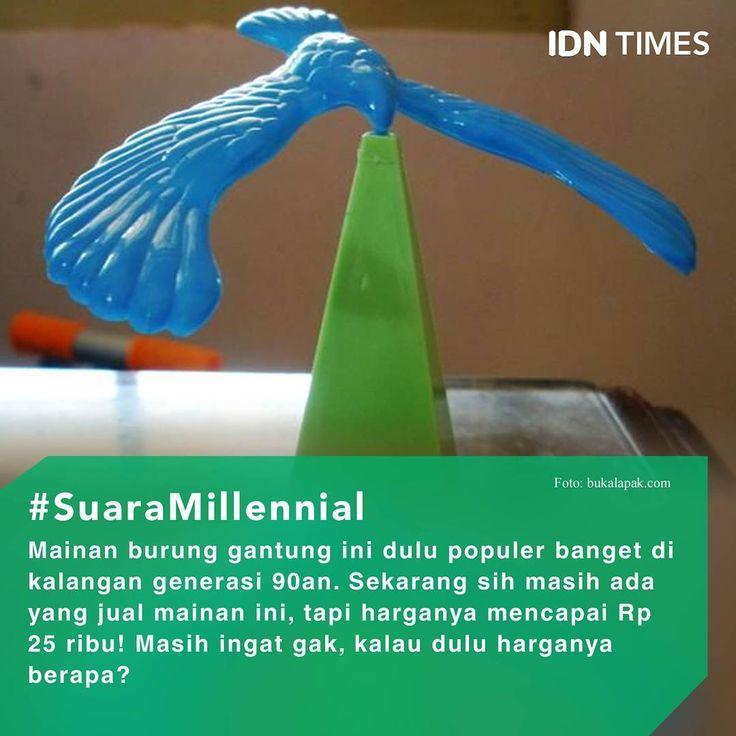 Masih Ingat Mainan Burung Gantung Ini? ----- Follow @IDNTimes - The Voice of Millennials and Gen Z ----- Fungsinya burung gantung ini memang bukan hanya mainan, tapi juga pajangan. Sekarang, burung keren ini dijual seharga 20.000 rupiah. Dulu, ketika punya mainan atau pajangan ini kita berasa kaya dan keren, benar nggak? (IDN Times / Erwanto) ----- Jangan lupa follow juga: @IDNTimes.Viral | @Popbela_com | @Popbela.Beauty | @IDN.TV | @IDNTV.Yummy | @IDNTV.NOW ----- #IDNTimes #SuaraMillennial…