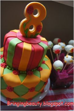carnival birthday party cake