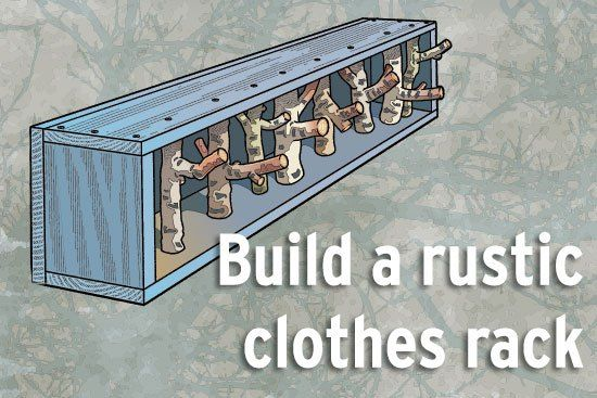 Rustic Clothes Hanger Workshop : I would like to work off this idea.