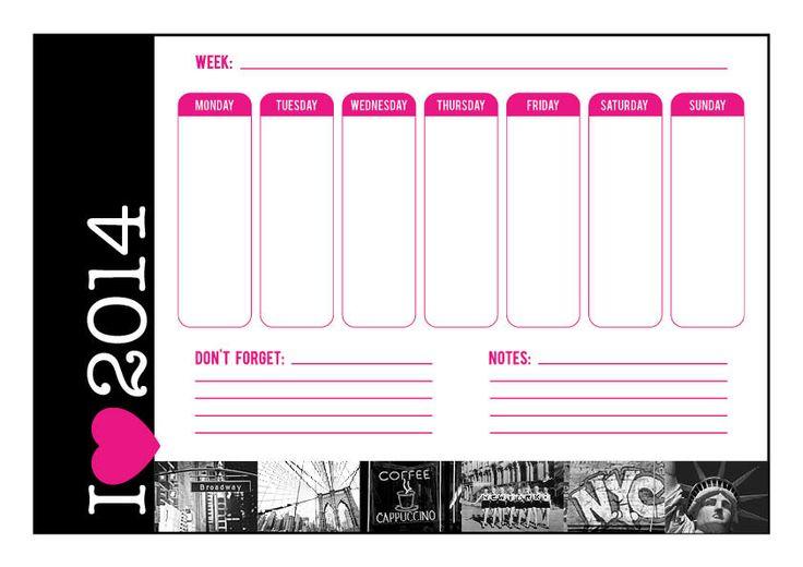Creatif Designs 'I love New York' weekly planner!