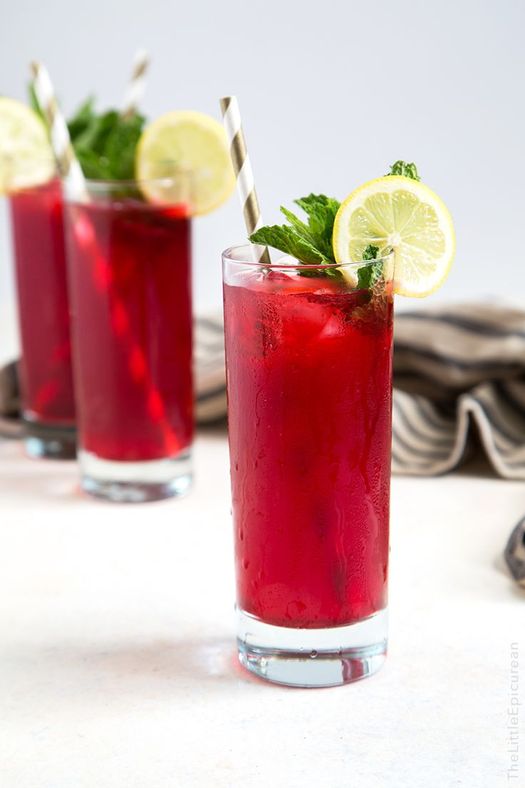 Mint Hibiscus Lemonade | Recipe | Hibiscus, Mint and Drinks