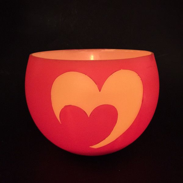 Our heart wax lantern. When lit, the heart shine through brighter then the red surround… beautiful. Beeswax lantern. Love. Romance. St Valentine's Day