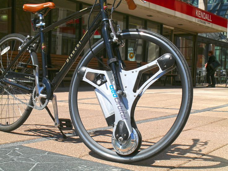 Make your bike electric with this swap-in tire Electric bikes have been around for decades but haven't broken out of their niche audience. Instead of building a bicycle around electric power, GeoOrbital is a universal wheel you can swap into your existing bike to power your ride. GeoOrbital's creators had previously worked at SpaceX and Ford, companies that know a thing or two about renovating traditional transportation. The device replaces the front wheel in bikes with 26..