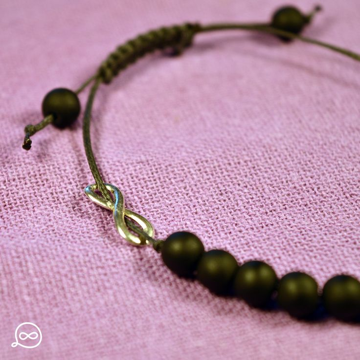 Matte Black Beads Bracelet. #tufatufa