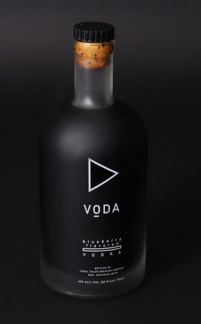 "Simplistisch logo  Voda Vodka. ""Voda"" means ""water"" in Russian, which is like an inside joke, that Russians named ""vodka"" and that it is no coincidence that it sounds like ""voda"" because they drink vodka like water."