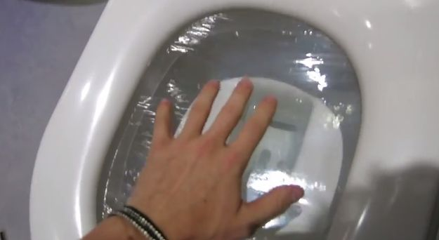 """There was the classic """"cling film on the toilet"""" prank. 