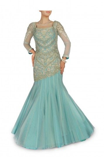 Embellished+Aqua+Blue+Gown